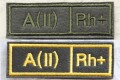ロシア軍 血液型パッチ A型(2型) 戦地用/通常・式典用 ベルクロ(マジックテープ)付 【クリックポスト送付可】
