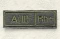 ロシア軍 血液型パッチ A型(2型) Rh+(プラス)/Rh-(マイナス) 戦地用 /ベルクロ(マジックテープ)付 【クリックポスト送付可】