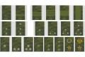 ロシア軍 デジタルフローラ 布製階級肩章2個セット 戦地用 各種【クリックポスト送付可】