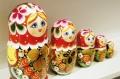セミョーノフ産 民族衣装マトリョーシカ 5ピース <イチゴちゃん/レッド> /17.5cm