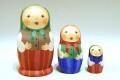 オリガ作 ロシア正教寺院 <聖ワシリー寺院> 木製置物<ピンク> /25cm 【送料無料】