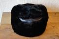 【ロシア軍正規品/新品】 海軍将校仕様 耳あて付ロシアン帽子 ウシャンカ 羊毛&羊の革仕様/黒 【送料無料】