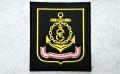 ロシア海軍 黒海艦隊 袖章パッチ(ワッペン) 常勤服用  ベルクロ付 【クリックポスト送付可】