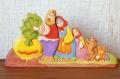 ヤロスラーヴリからの木の民話 木製パズル <おおきなかぶ> /22.8×11.7cm