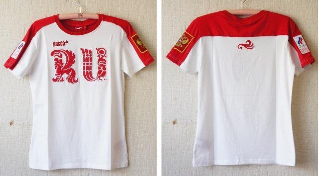 Bosco sport(ボスコスポーツ) ソチ五輪・ロシア代表選手団 公式Tシャツ<RU> 女性用 【ユーリ!!!on ICE】 【送料無料】