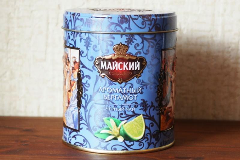 ロシアМАЙСКИЙ(マイスキー)社  エフゲニー・オネーギン 円形缶 フレーバーティー(ベルガモット) 90g