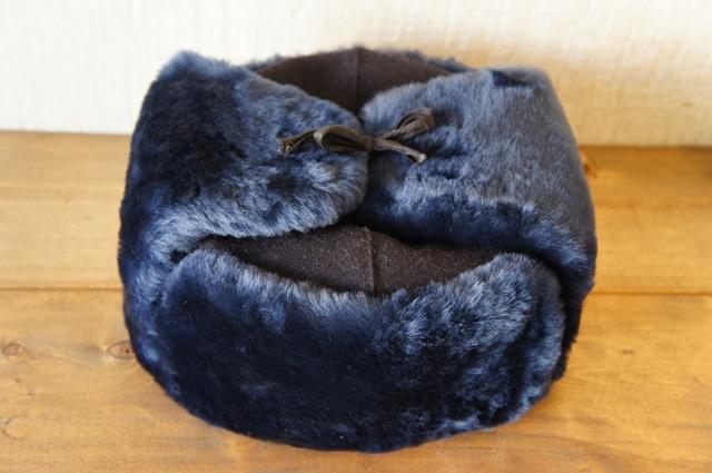 【ロシア警察正規品/新品】 ロシア警察仕様 耳あて付ロシアン帽子 ウシャンカ 羊毛仕様/濃紺 【送料無料】