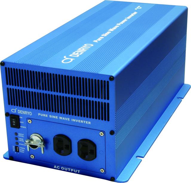 会員様限定価格(SK-3000/DC-24V入力)電菱サイン波インバ-タ-(出力3000W/最大6000W)AC-100V