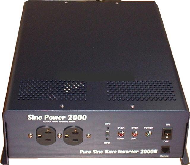 RYODEN/サイン波インバ-タ-(2000W/最大瞬間4000W)DC-24Vから家庭用電源AC-100Vに変換装置。