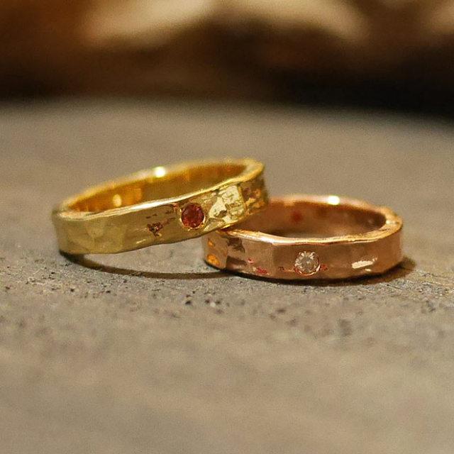 オーダーメイド 結婚指輪 イエローゴールド  ピンクゴールド