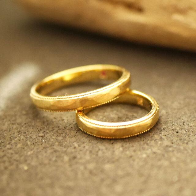 オーダーメイド 結婚指輪 18金ゴールド