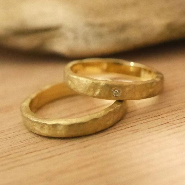 オーダーメイド 結婚指輪 10金ゴールド