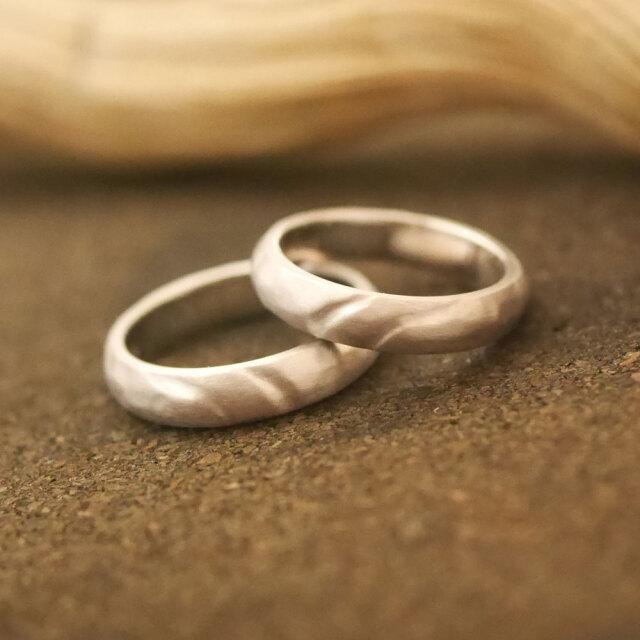 オーダーメイド 結婚指輪 10金ホワイトゴールド
