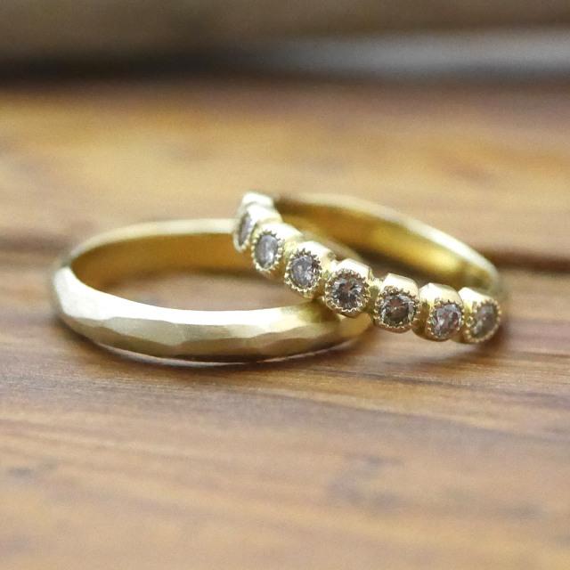 オーダーメイド 結婚指輪 18金 ダイヤモンド