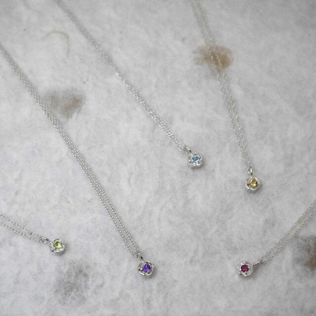 シルバー 天然石 ネックレス