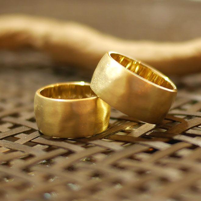 オーダーメイド 結婚指輪 10金イエローゴールド