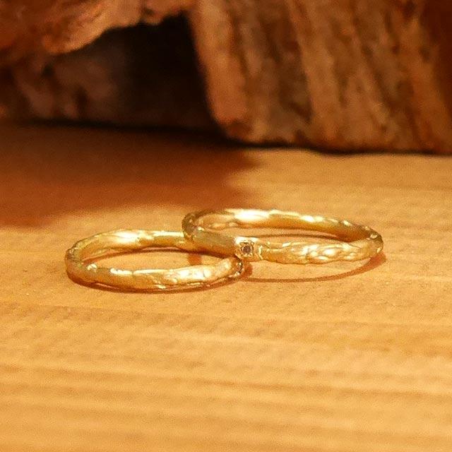 オーダーメイド 結婚指輪 k18イエローゴールド