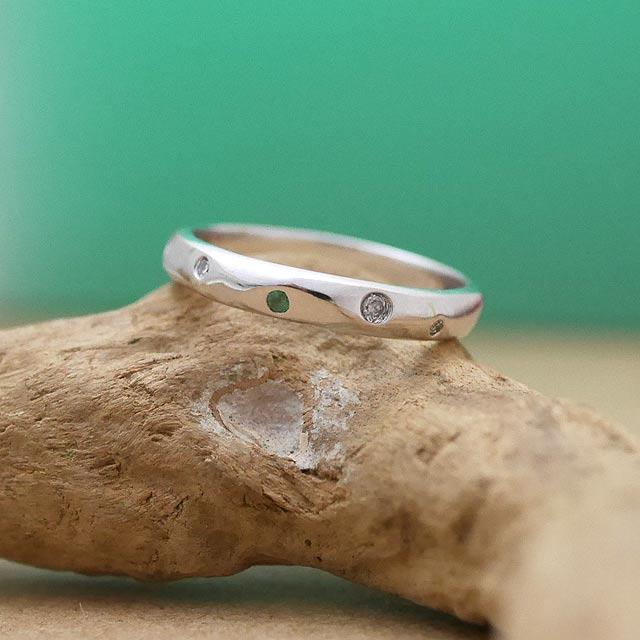 オーダーメイド 婚約指輪 k18ホワイトゴールド