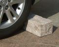 小サイズ(幅45cm)接着剤不要の「車止め」切り出し四角デザイン 車輪止めカーストッパー パーキングブロック