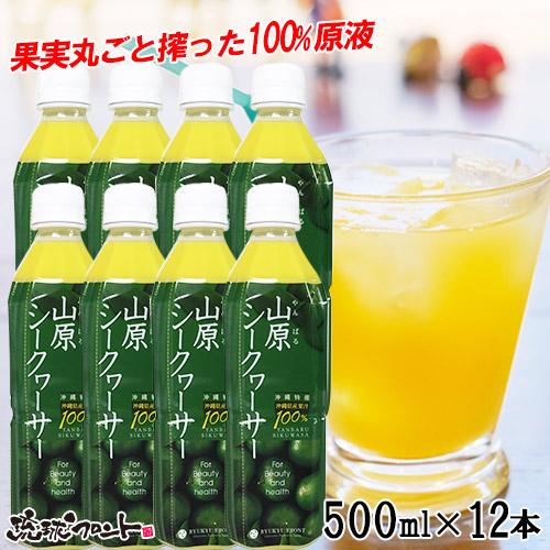 【送料無料】 山原シークヮーサー ペットボトル 500ml ×12本