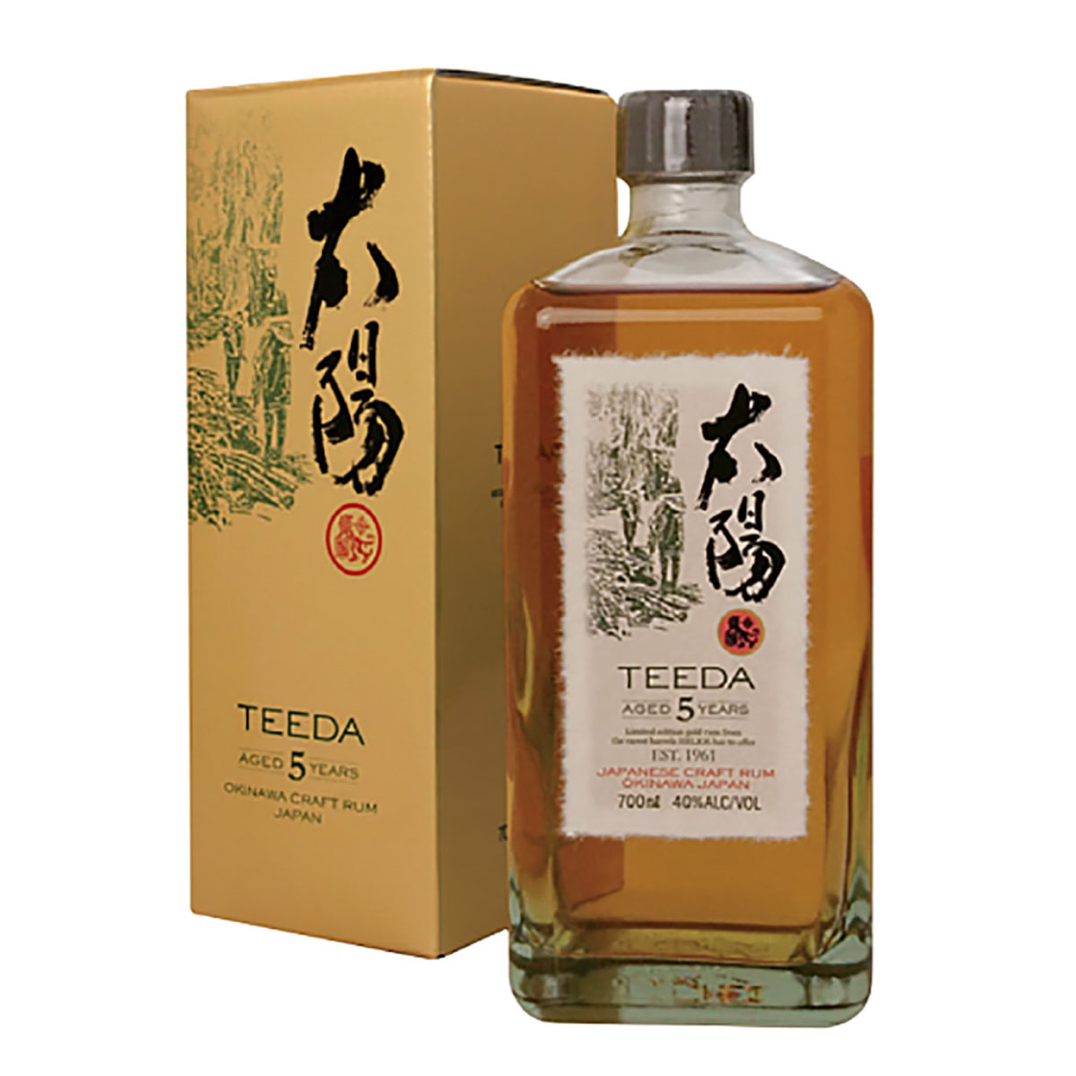 ゴールドラム TEEDA(ティーダ) 5年 40度 700ml