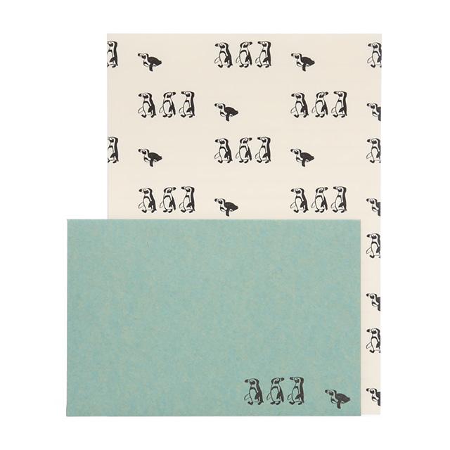 リュリュ:中島良二のアニマルパレードレターセット:便箋8枚+封筒4枚セット:ペンギン