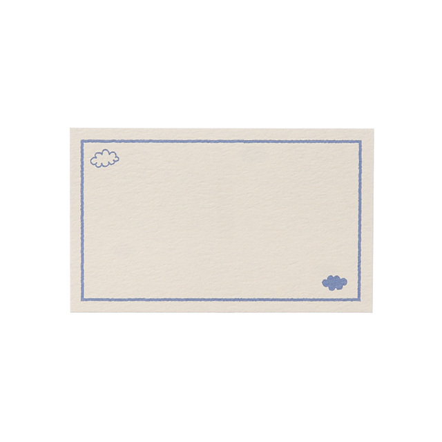 リュリュの名刺サイズメッセージカード:COM