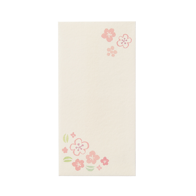 LWPB-10:和風ぽち袋ロングタイプ3枚セット・無地(小花)〔OZ〕