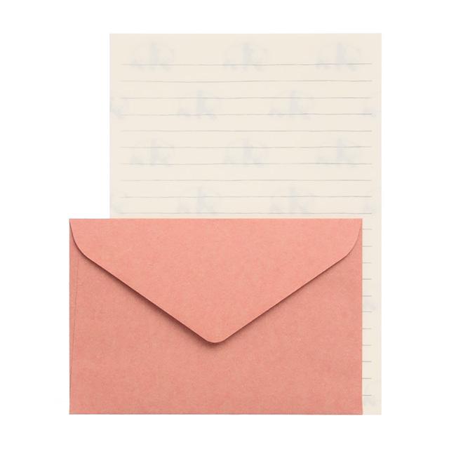 リュリュ:中島良二のアニマルパレードレターセット:便箋8枚+封筒4枚セット:パンダ