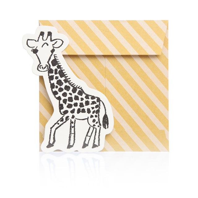 リュリュ:中島良二のアニマルパレードグリーティングカード:カード1枚+封筒1枚セット: