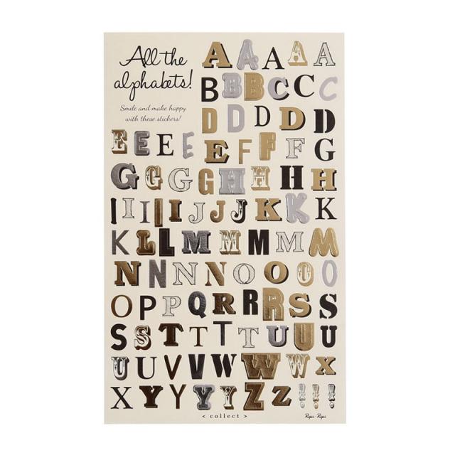 コレクトシール:アルファベット