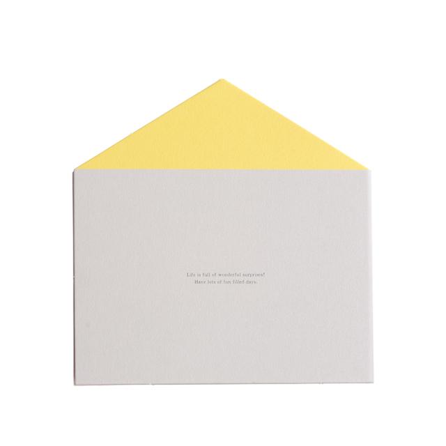 二つ折り寄せ書き:お家・カタヌキ