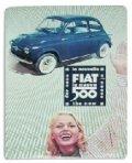 フィアット FIATレトロメタルポストカード B /a03331378 純正品番:50906432