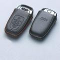 Audi純正 アウディ アドバンスドキーレザーカバー レッドステッチ J0AXA1R01RED A4 A5 A6 Q5 / a03731881