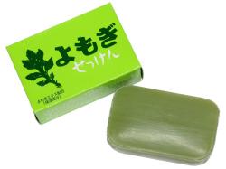よもぎ石鹸1個(国産よもぎ使用・5,400円以上で送料無料・沖縄県を除く)