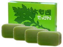 よもぎ石鹸・4個入(5,400円以上で送料無料・沖縄県を除く)