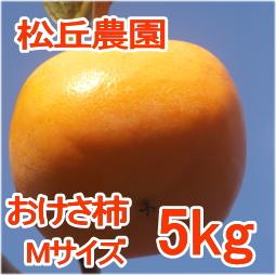 おけさ柿Mサイズ5kg[松丘農園]