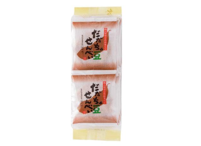 14枚入り だだちゃ豆みそ 外観 山形特産だだちゃ豆を生地に練り込み焼き上げたおせんべい みそ味 仙台みそ使用