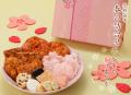 春限定おせべい詰合せ 化粧箱中 春の詰合せ 2000円(税込み)