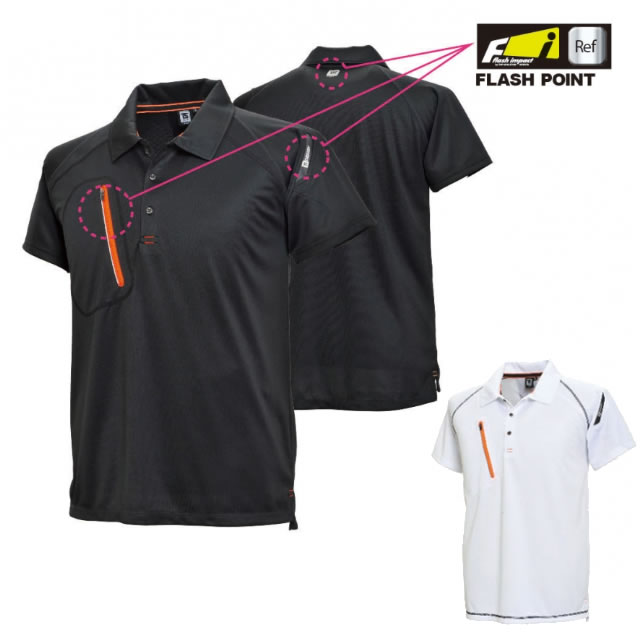 5065 TSデザイン FLASH 半袖ポロシャツ