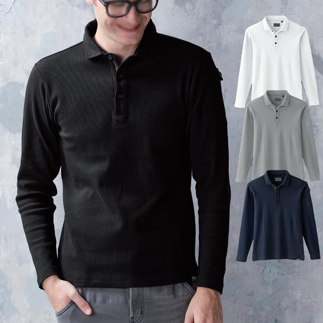 50710 SOWA 長袖ポロシャツ(胸ポケットなし)