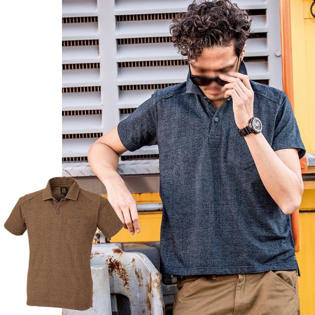 G-9127 CO-COS(コーコス) デニムフィール半袖ポロシャツ