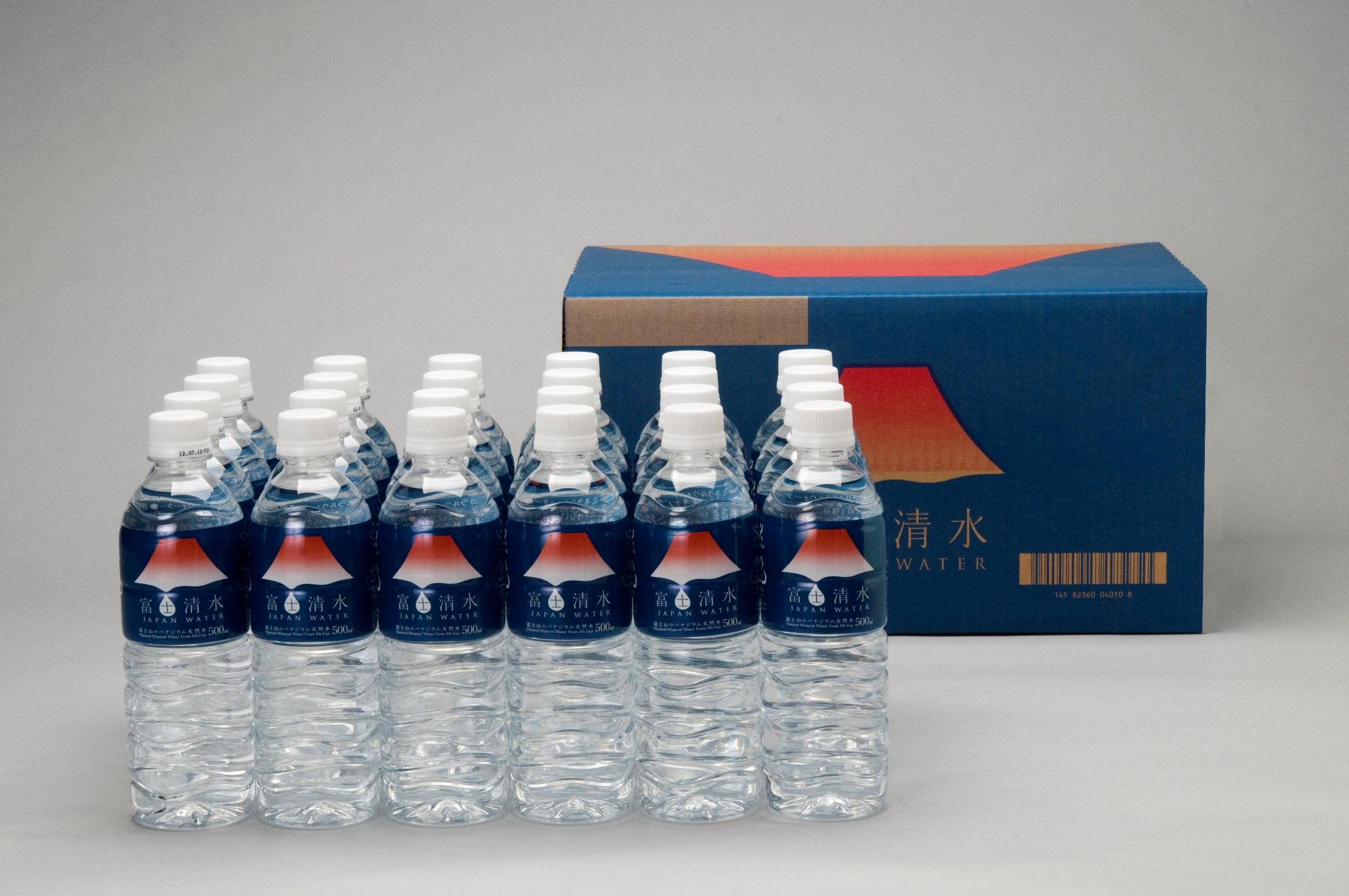 ミツウロコビバレッジ 富士清水 JAPAN WATER 富士山のバナジウム天然水 500ml×24本×2箱セット 送料無料