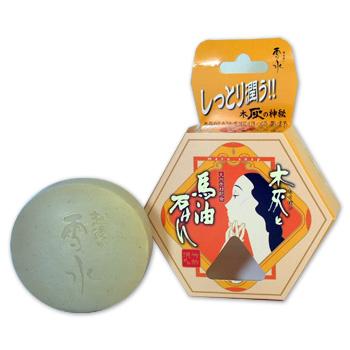 日本漢方研究所 木灰と馬油石鹸 12個セット 送料無料