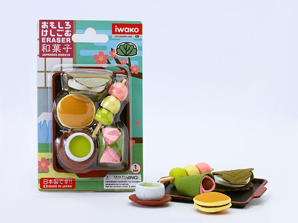イワコー/おもしろ消しゴムブリスターパック/和菓子