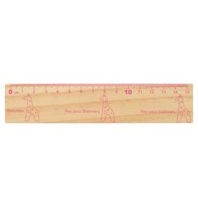 ナカノ/木製定規15cmキリン