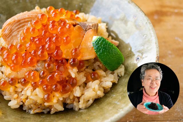 【送料込】 生鮮便第30回 登米の新米と鮭はらこ飯(ばっぱの昆布煮)