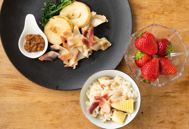 【送料込】生鮮便第55回 筍ほっき飯と自家製醤油麹で味わう筍とほっき貝のグリル