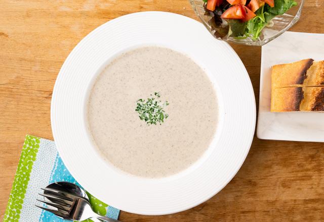 舟形マッシュルームのポタージュスープ