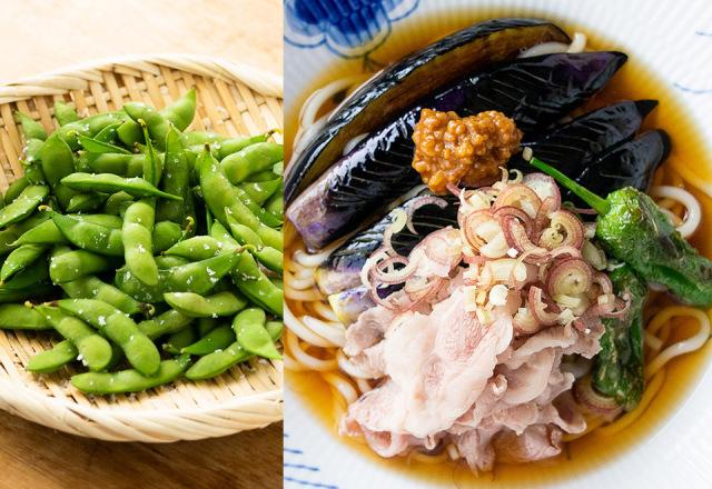 【送料込】生鮮便第70回  権四郎だだちゃ豆と冷やし稲庭生うどん 仙台牛と揚げ茄子で